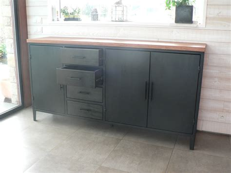 prix d un bureau grand bahut 3 portes 4 tiroirs en métal