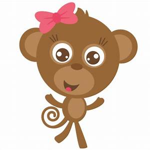 Girl Monkey SVG cut file for scrapbooking free svgs free ...