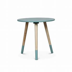 Table Basse Scandinave Bi Color VIKY XS BLEU