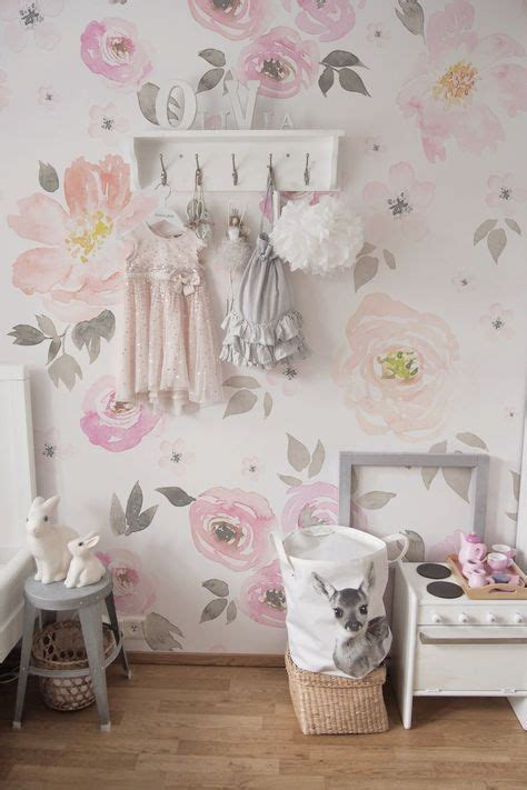 Lovely Pastel Wall Mural Design Ideas by Lovely Vintage Floral Removable Wallpaper In 2019