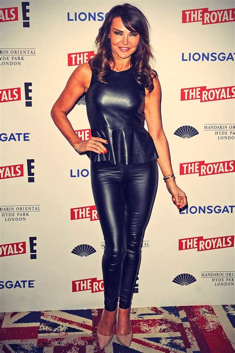 lizzie cundy attends  royals  uk premiere leather