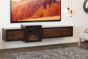 floating fireplace wall mount tv stand eco geo espresso With wall mount tv stand never die