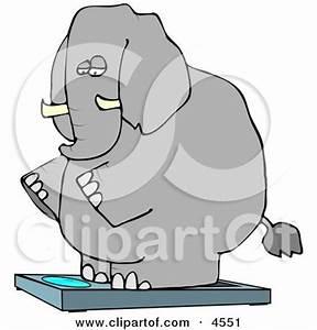 Elephant Standing Clip Art