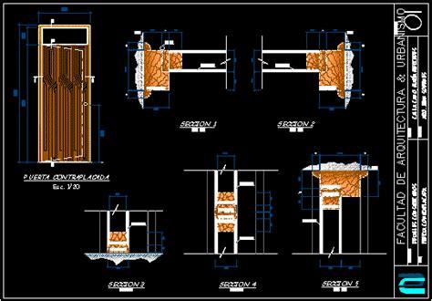 plywood door  autocad  cad   kb