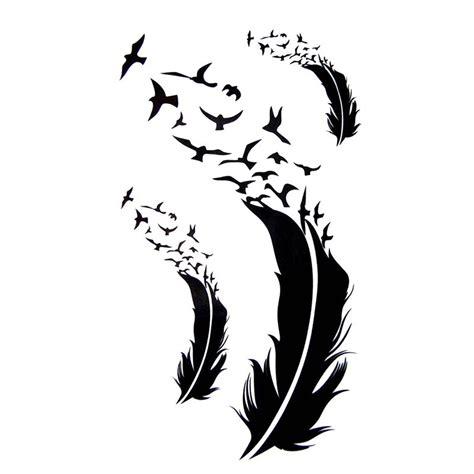 tatouage temporaire plume  oiseaux