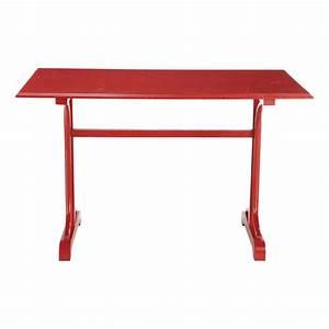 Table De Cuisine Rectangulaire : table de cuisine rectangulaire rouge brasserie maisons ~ Teatrodelosmanantiales.com Idées de Décoration