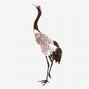 Painting red-crowned crane, Meticulous, Red-crowned Crane ...