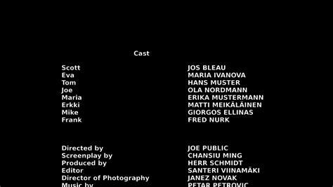 credits template closing credits