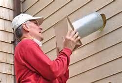 installing exterior wall vent cap  bath exhaust fan