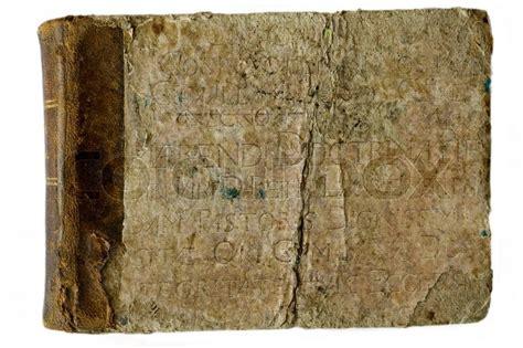 altes buch mit lateinischen inschrift stockfoto colourbox