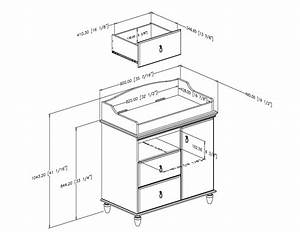 South Shore Moonlight Changing Table 3760332