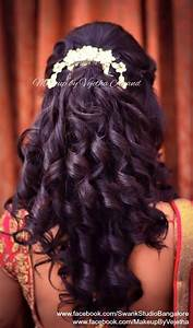 Indian Bride39s Reception Hairstyle By Vejetha For Swank