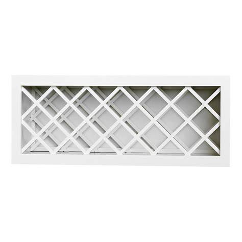 Diy Kitchen Organization Ideas - plywell ready to assemble 30x18x12 in shaker wall wine rack in white swxwr3018 the home depot