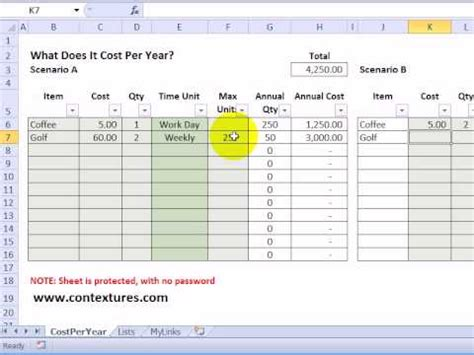 excel po template calculate annual costs and savings with excel template