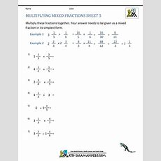 Multiplying Fractions With Mixed Numbers  World Of Reference