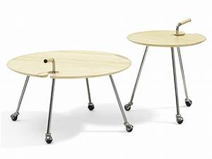 round coffee table with casters pond by bla station design With round coffee table with casters