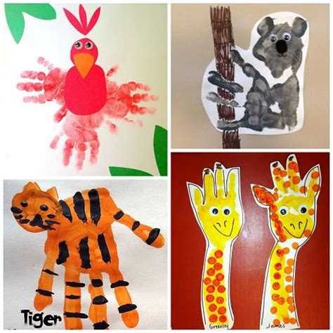 here is a list of zoo animal handprint crafts for 798 | 338d84af1b5778f6d5dbd91e04ff934e circus crafts preschool zoo crafts