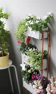 Kleine Wäschespinne Für Balkon : diy f r kleine balkons pflanzregal aus kupferrohren selbstgemacht mein feenstaub ~ Indierocktalk.com Haus und Dekorationen