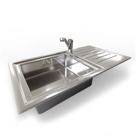 kitchen sink model kitchen sink with mixer tap 3d model obj 3ds fbx dae mtl 2790