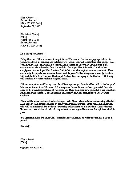 company merger letter to customers template download announcement letter templates and open with