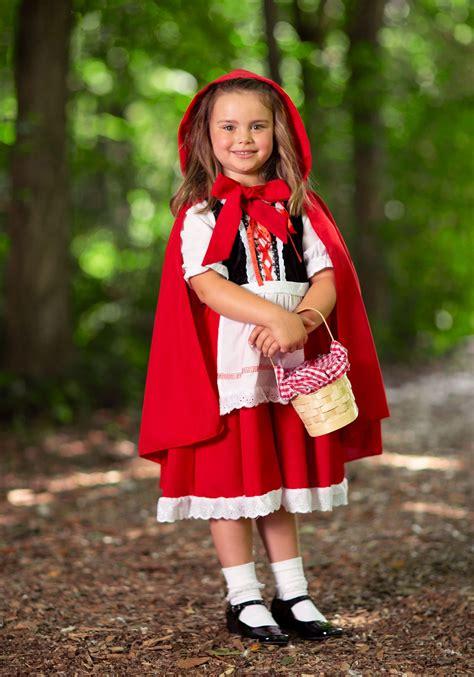 Disfraz de caperucita roja de lujo para niños