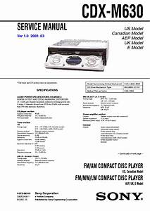 Wiring Diagram Sony Cdx M630