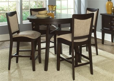 ashby oval pub table 5 dining set in espresso finish