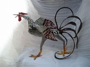Sculpture En Papier Maché : coq sculpture en papier m ch photo de animaux interventions arts plastiques environnement ~ Melissatoandfro.com Idées de Décoration
