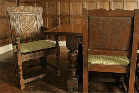 carved  century style armchair  tudor panelled room