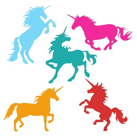 This free svg cut file comes in a single zip file with the following file formats: Unicorns Cuttable Design