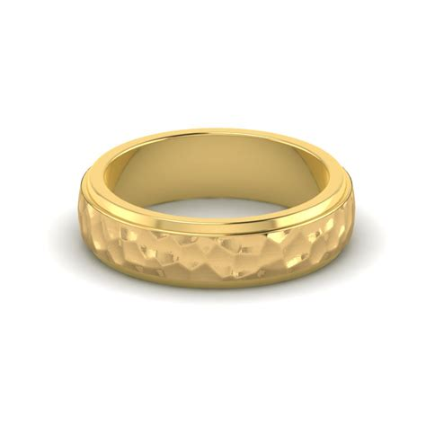 hand hammered gold rings hammered gold wedding ring