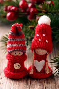 christmas decor knitted christmas ornaments ideas for interior
