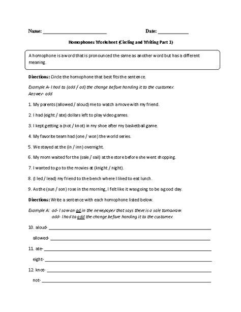 englishlinxcom homophones worksheets