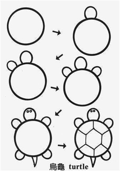 ideas  kids   draw circle animals step  step
