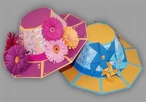 Hut Aus Papier : sommerhut aus papier basteln anleitung und schablonen ~ Watch28wear.com Haus und Dekorationen
