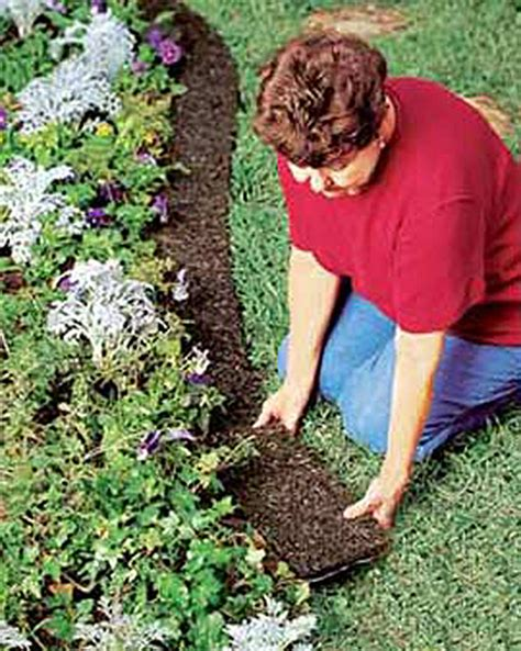 recycled rubber edge border mulch buy from gardener s supply