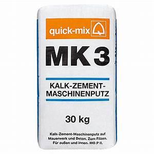 Kalk Zement Putz Glätten : quick mix kalk zement maschinenputz mk3 30 kg ~ Articles-book.com Haus und Dekorationen