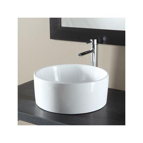 vasques a poser forme cylindre vasque en porcelaine blanche
