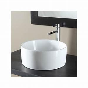 vasques a poser forme cylindre vasque en porcelaine blanche With salle de bain design avec vasque a poser ronde blanche