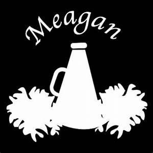 custom vinyl cheerleader megaphone pom poms with name With vinyl letters for megaphones