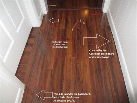 Laminate Alignment / Baseboard Mistake   Flooring   DIY