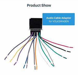 Car Wiring Harness Plug Adapter Audio Sound Cable For
