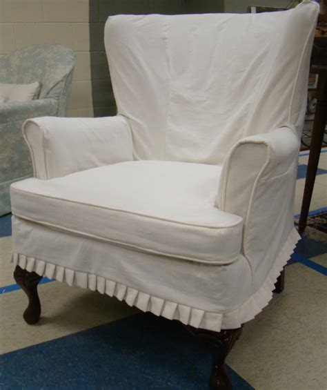 white wingback chair slipcover white linen wingback slipcover with curved black wooden