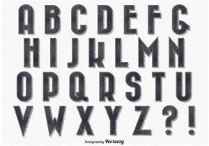 Character Letter Template Vintage Style Alphabet Download Free Vectors Clipart