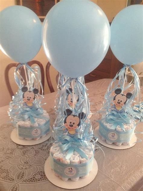 baby shower table centerpieces baby shower diapers centerpiece mickey mouse by designsbyemilys rosa pinterest