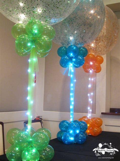 green blue orange sparkle balloons  balloon bases