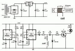 electronic 555100 With lm555 electronics schematic diagram sweeping output frequency siren part 24