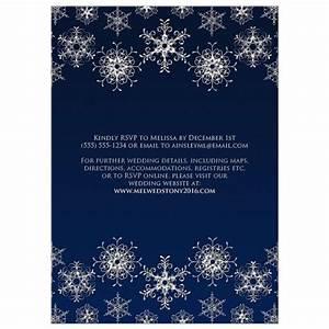 wedding invitation silver faux glitter snowflakes on With glitter snowflake wedding invitations
