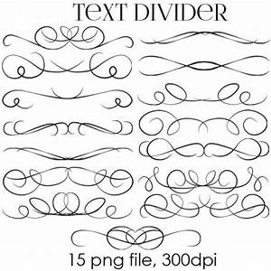 70 off sale text dividers digital clipart wedding With wedding invitation text divider