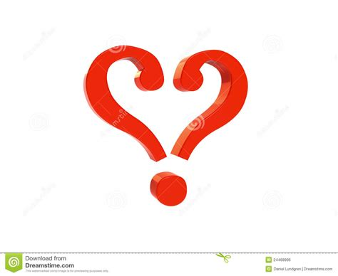 question mark heart marks royalty rendering forming shape 3d